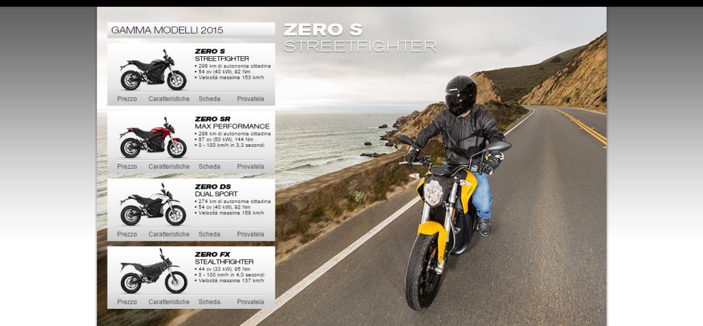 Gamma modelli moto elettriche 2015 ZERO MOTORCYCLES